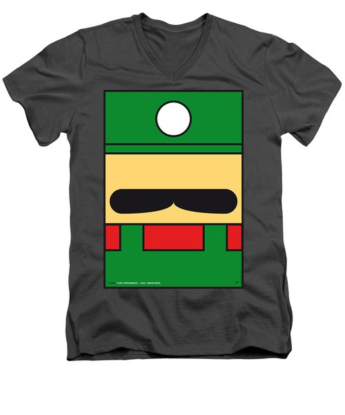 My Mariobros Fig 02 Minimal Poster Men's V-Neck T-Shirt