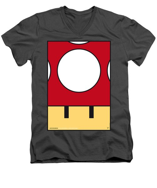 My Mariobros Fig 05a Minimal Poster Men's V-Neck T-Shirt