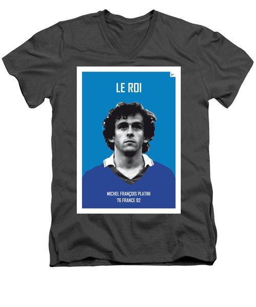 My Platini Soccer Legend Poster Men's V-Neck T-Shirt