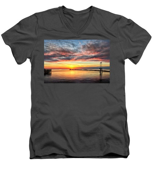 My Return To Cape Charles Virginia Men's V-Neck T-Shirt by Michael Pickett