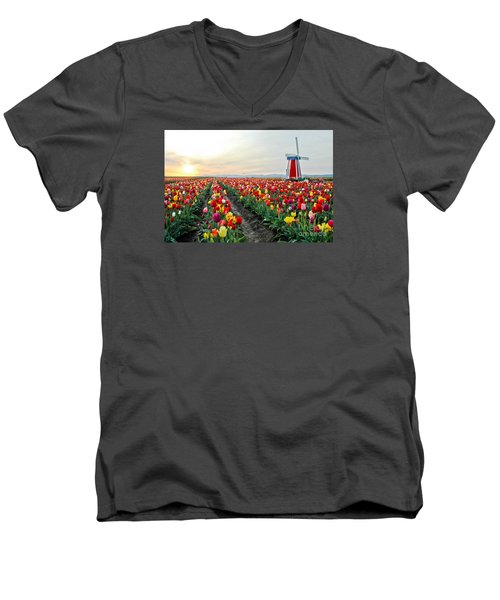 My Touch Of Holland 2 Men's V-Neck T-Shirt
