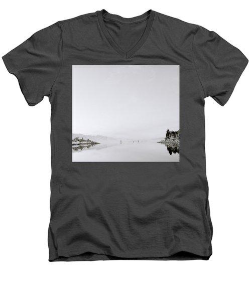 Still Waters Men's V-Neck T-Shirt by Shaun Higson