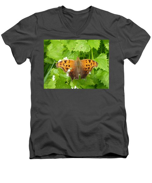Men's V-Neck T-Shirt featuring the photograph Mystery Lady by Lingfai Leung