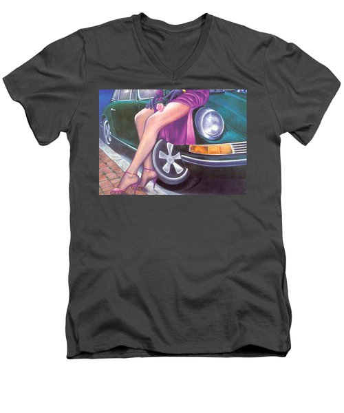 Mystery On Peter Porsche Men's V-Neck T-Shirt by Mary Ann  Leitch