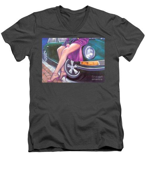 Mystery On Peter's Porsche Men's V-Neck T-Shirt
