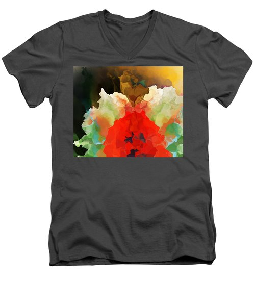 Men's V-Neck T-Shirt featuring the digital art Mystic Bloom by David Lane