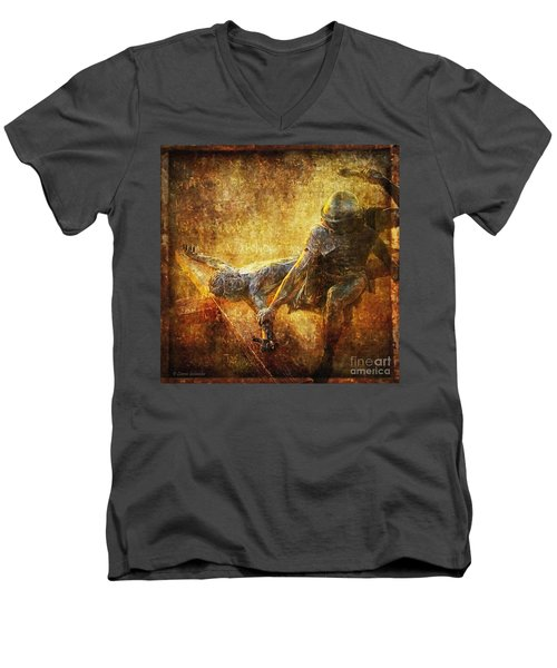 Nailed To The Cross Via Dolorosa 11 Men's V-Neck T-Shirt by Lianne Schneider