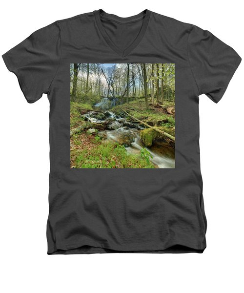 Naked Creek Falls Men's V-Neck T-Shirt