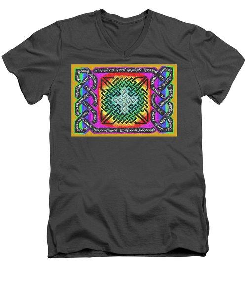 Names Of Yhwh Men's V-Neck T-Shirt by Hidden  Mountain