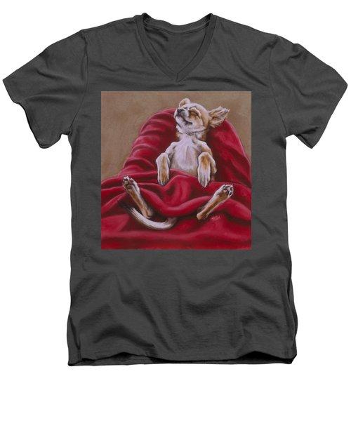 Nap Hard Men's V-Neck T-Shirt by Barbara Keith