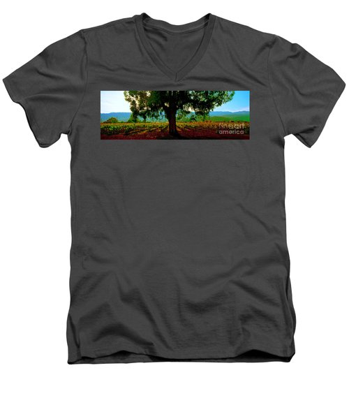 Napa Valley Ingenook Winery Roadside Men's V-Neck T-Shirt