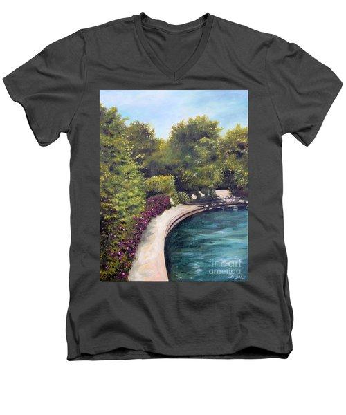 Naperville Riverwalk II Men's V-Neck T-Shirt