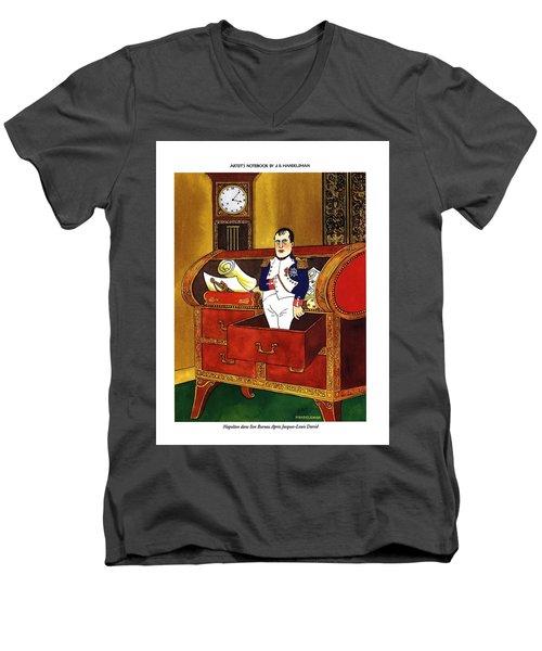 Napoleon Dans Son Bureau Apres Jacques-louis David Men's V-Neck T-Shirt