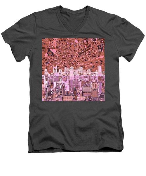 Nashville Skyline Abstract 7 Men's V-Neck T-Shirt