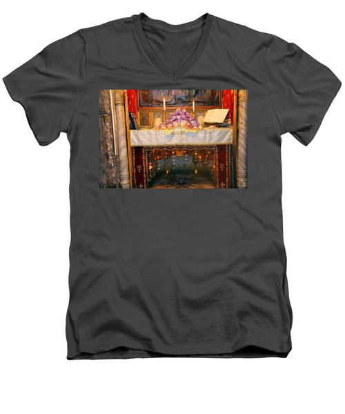 Nativity Grotto Men's V-Neck T-Shirt