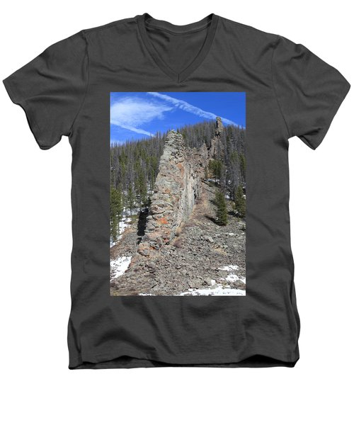 Nature's Wall Men's V-Neck T-Shirt