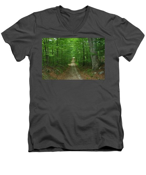 Men's V-Neck T-Shirt featuring the photograph Nature's Way At James L. Goodwin State Forest  by Neal Eslinger