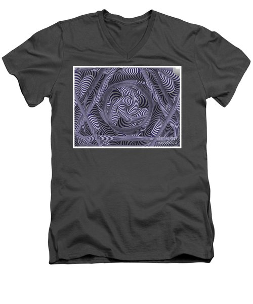 Nautical Coloured Design Men's V-Neck T-Shirt