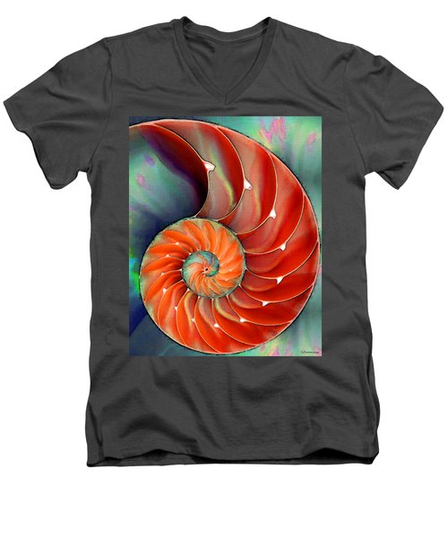Nautilus Shell - Nature's Perfection Men's V-Neck T-Shirt