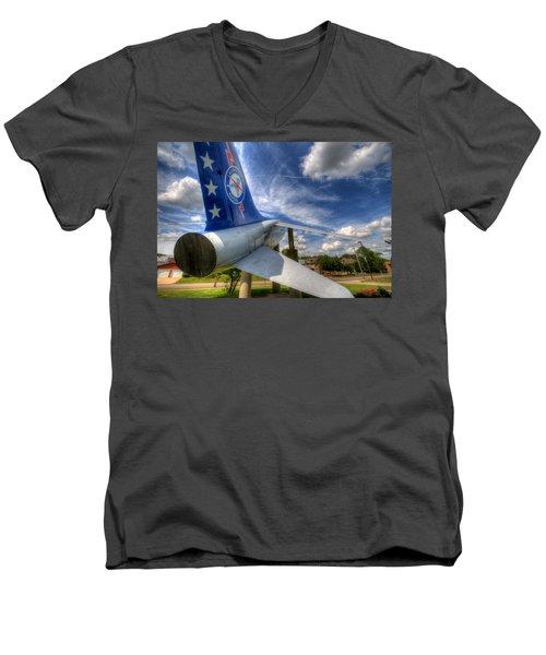 Navy A-7 Fighter Static Display Men's V-Neck T-Shirt