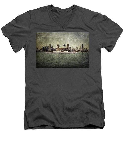 Navy Pier Men's V-Neck T-Shirt