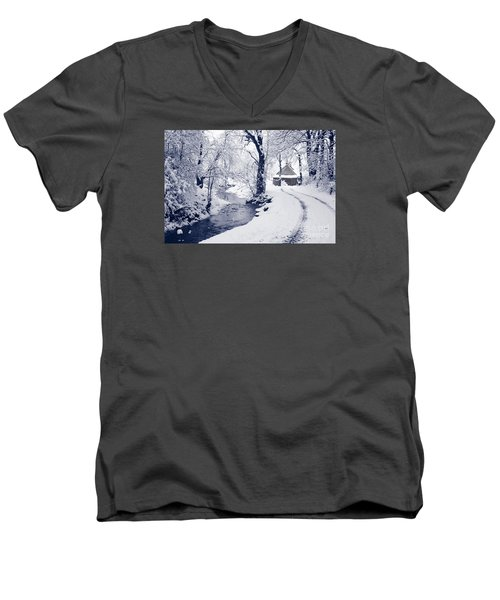 Men's V-Neck T-Shirt featuring the photograph Nearly Home by Liz Leyden