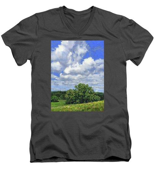 Nearly September Men's V-Neck T-Shirt by Bruce Morrison