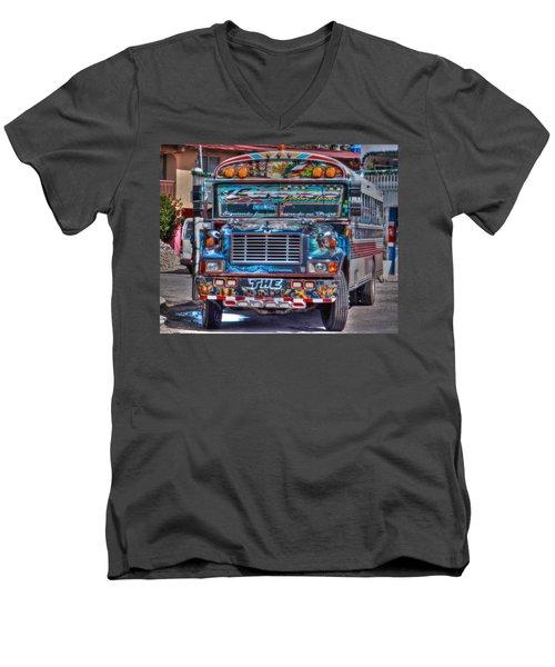 Neat Panamanian Graffiti Bus  Men's V-Neck T-Shirt