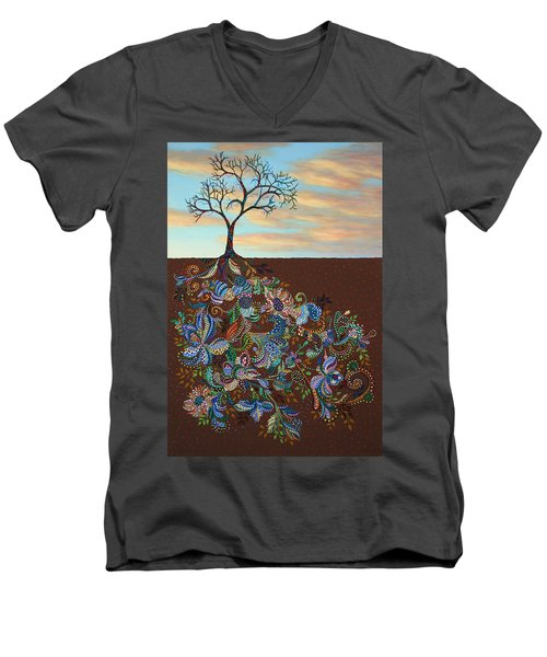 Neither Praise Nor Disgrace Men's V-Neck T-Shirt by James W Johnson