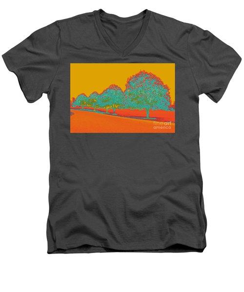 Neon Trees In The Fall Men's V-Neck T-Shirt