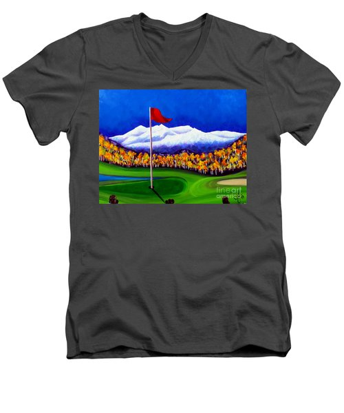 Men's V-Neck T-Shirt featuring the painting Never Enough by Jackie Carpenter