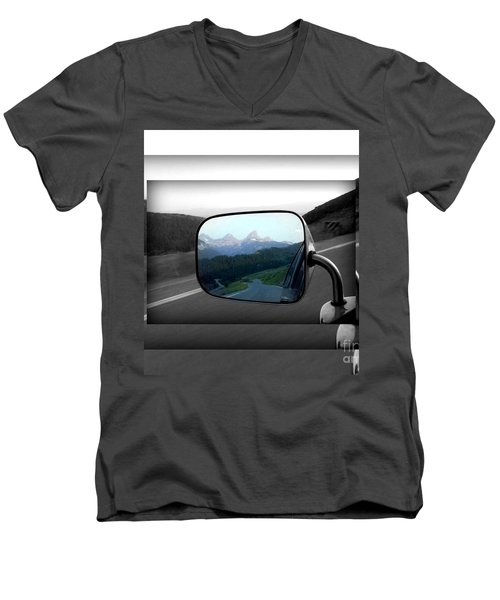 Men's V-Neck T-Shirt featuring the photograph Looking Back by Janice Westerberg