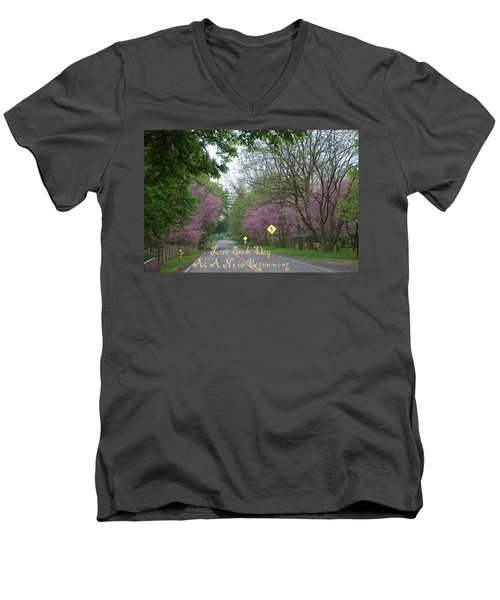Men's V-Neck T-Shirt featuring the photograph New Beginning by Aimee L Maher Photography and Art Visit ALMGallerydotcom