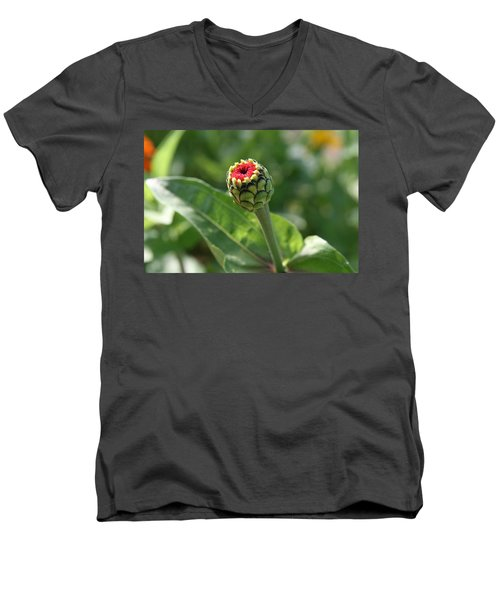 Men's V-Neck T-Shirt featuring the photograph New Beginning by Neal Eslinger