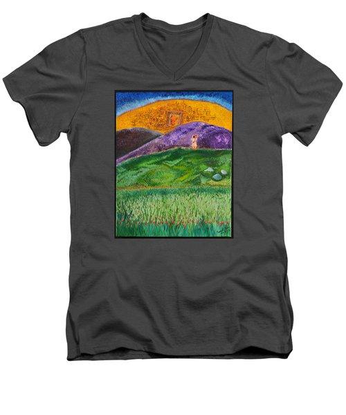 New Jerusalem Men's V-Neck T-Shirt by Cassie Sears