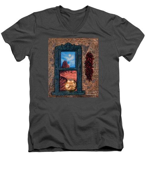 New Mexico Window Gold Men's V-Neck T-Shirt