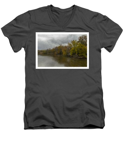 New Milford By Water Side Men's V-Neck T-Shirt
