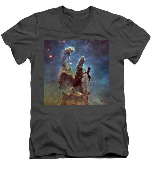 New Pillars Of Creation Hd Square Men's V-Neck T-Shirt