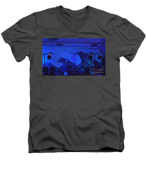 Men's V-Neck T-Shirt featuring the photograph New Riders Of The Purple Sage 5 by Kelly Awad
