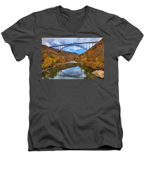 New River Gorge Reflections Men's V-Neck T-Shirt