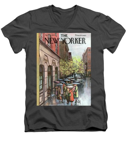 New Yorker April 21st, 1951 Men's V-Neck T-Shirt