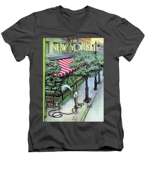 New Yorker August 27th, 1955 Men's V-Neck T-Shirt