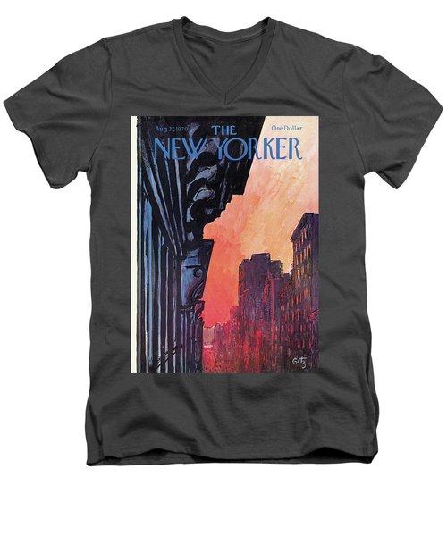 New Yorker August 27th, 1979 Men's V-Neck T-Shirt