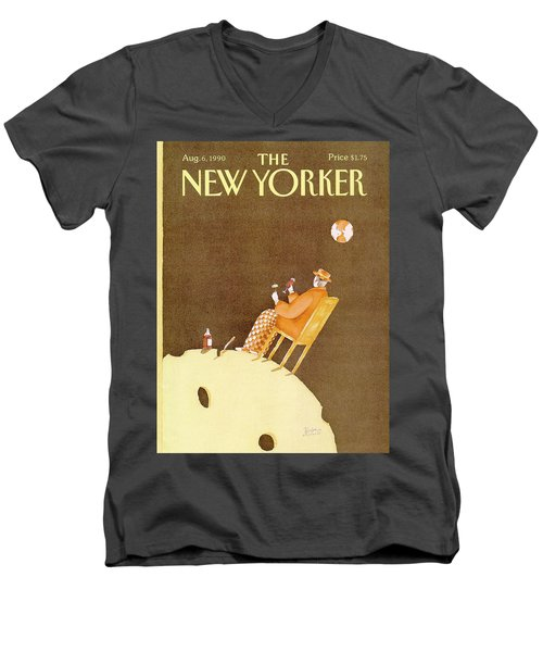 New Yorker August 6th, 1990 Men's V-Neck T-Shirt