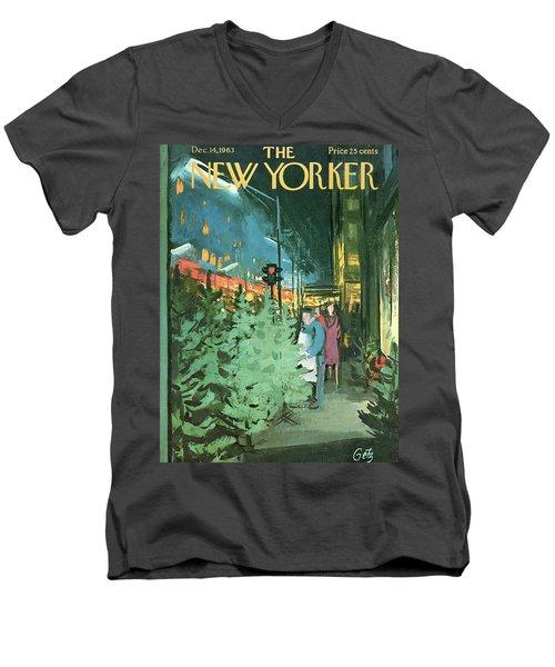 New Yorker December 14th, 1963 Men's V-Neck T-Shirt