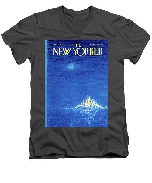New Yorker December 3rd, 1973 Men's V-Neck T-Shirt