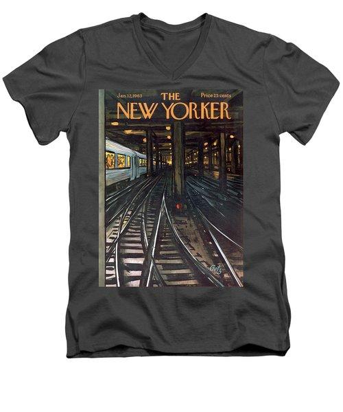 New Yorker January 12th, 1963 Men's V-Neck T-Shirt