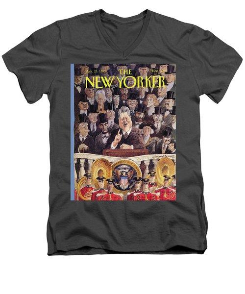 New Yorker January 25th, 1993 Men's V-Neck T-Shirt