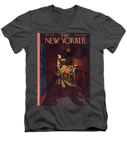 New Yorker July 14th, 1951 Men's V-Neck T-Shirt
