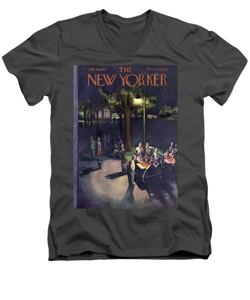 New Yorker July 18th, 1953 Men's V-Neck T-Shirt